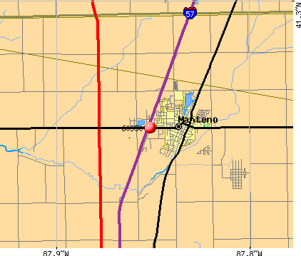 Manteno, IL (60950) map