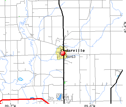 Cedarville, IL (61013) map