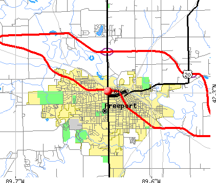 Freeport, IL (61032) map