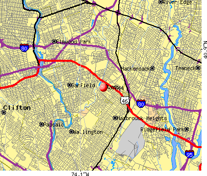 Lodi, NJ (07644) map