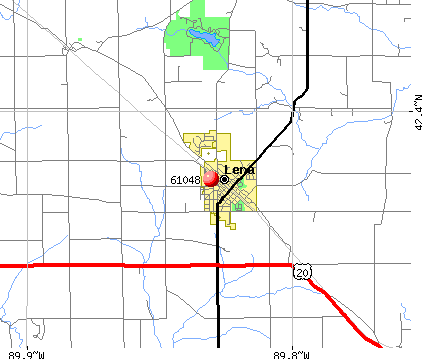 Lena, IL (61048) map