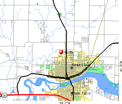 Sterling, IL (61081) map