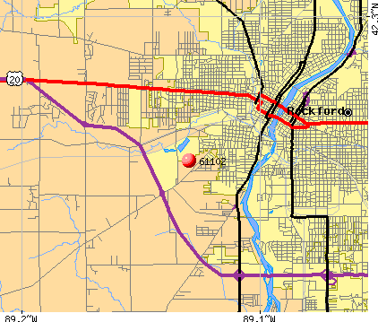 Rockford, IL (61102) map