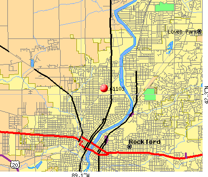 Rockford, IL (61103) map