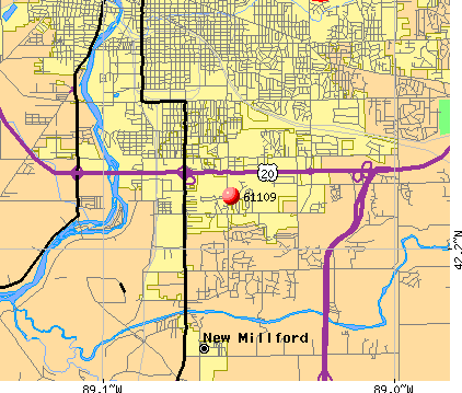 Rockford, IL (61109) map
