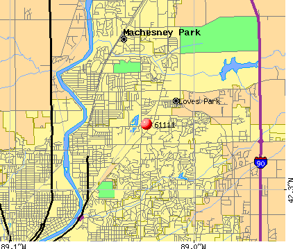 Loves Park, IL (61111) map
