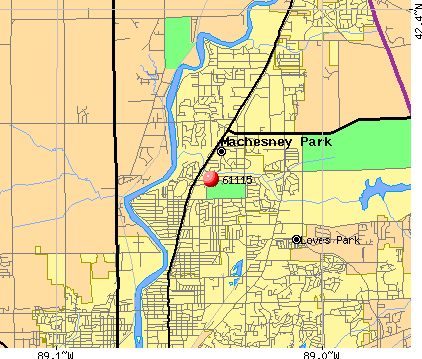 Machesney Park, IL (61115) map