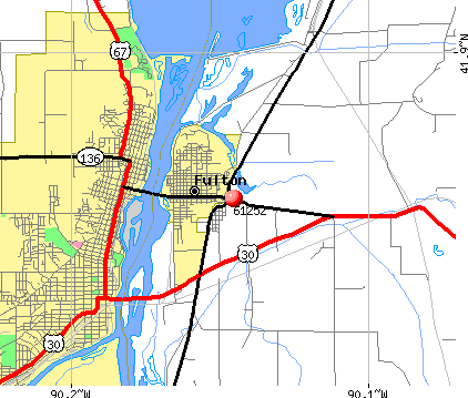 Fulton, IL (61252) map