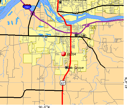 Milan, IL (61264) map