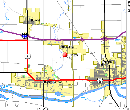 Dalzell, IL (61320) map