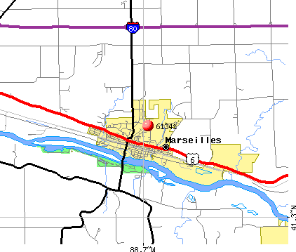Marseilles, IL (61341) map