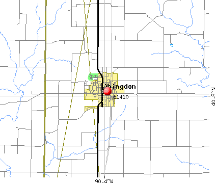 Abingdon, IL (61410) map