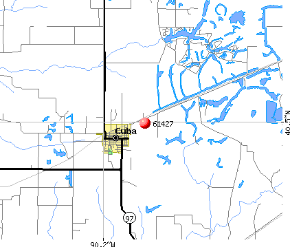 Cuba, IL (61427) map