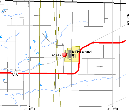 Kirkwood, IL (61447) map