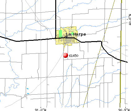 La Harpe, IL (61450) map