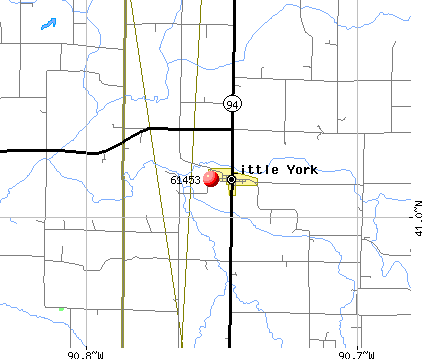 Little York, IL (61453) map