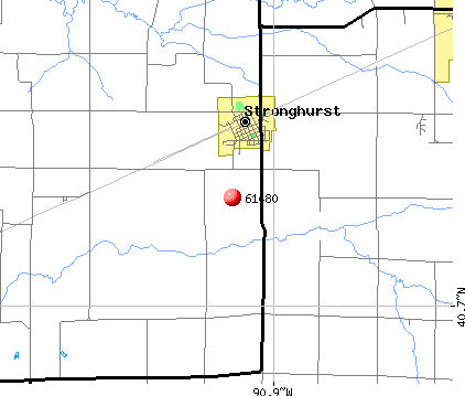 Stronghurst, IL (61480) map