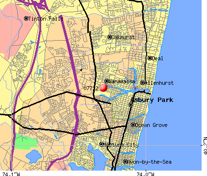 Tinton Falls, NJ (07712) map