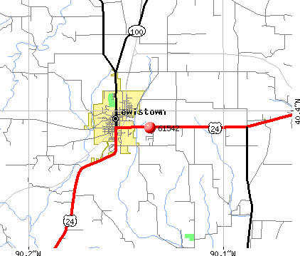 Lewistown, IL (61542) map