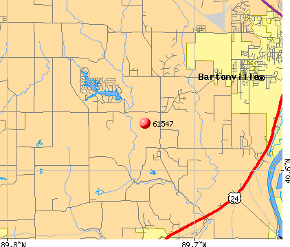 Mapleton, IL (61547) map