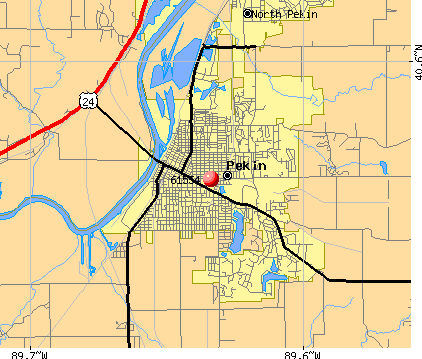 Pekin, IL (61554) map