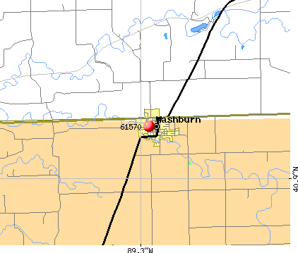 Washburn, IL (61570) map