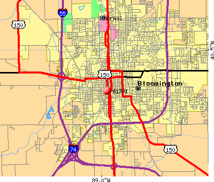 Bloomington, IL (61701) map