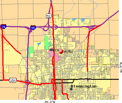 Normal, IL (61761) map