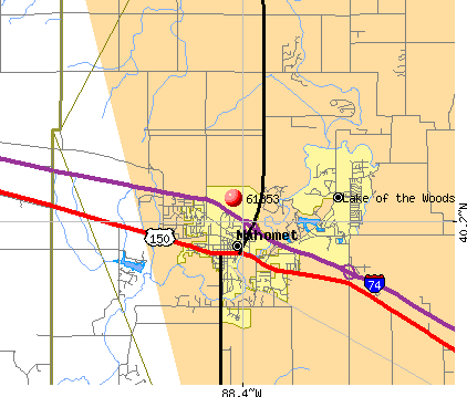 Mahomet, IL (61853) map