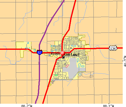 Rantoul, IL (61866) map