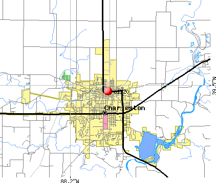 Charleston, IL (61920) map