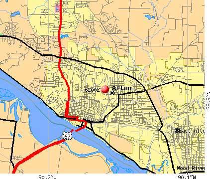 Alton, IL (62002) map