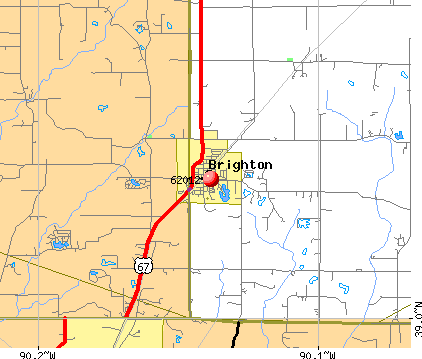 Brighton, IL (62012) map