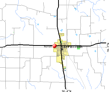 Carrollton, IL (62016) map