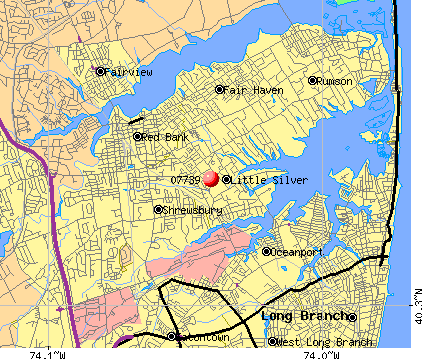 Little Silver, NJ (07739) map