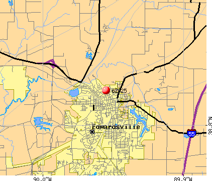 Edwardsville, IL (62025) map
