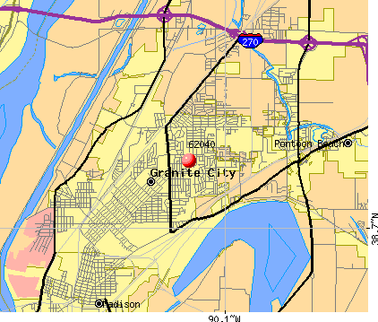 Granite City, IL (62040) map