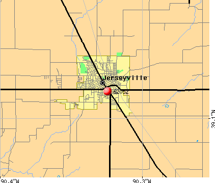 Jerseyville, IL (62052) map