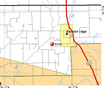 Rockbridge, IL (62081) map