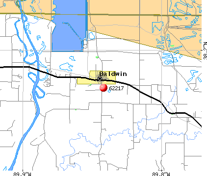 Baldwin, IL (62217) map