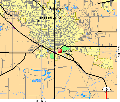 Belleville, IL (62220) map