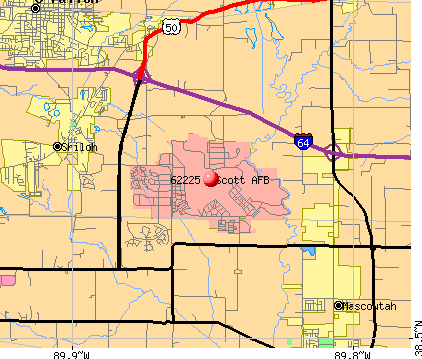 Scott AFB, IL (62225) map