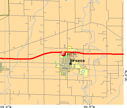 Breese, IL (62230) map