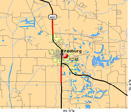 Freeburg, IL (62243) map