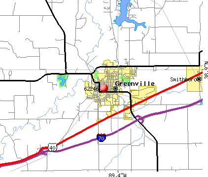 Greenville, IL (62246) map