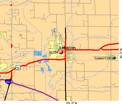 Lebanon, IL (62254) map