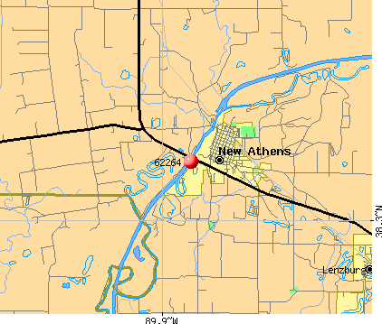 New Athens, IL (62264) map
