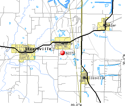 Percy, IL (62272) map