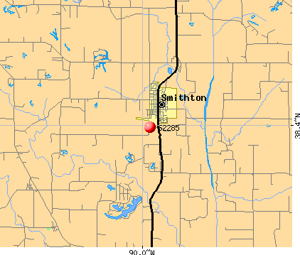 Smithton, IL (62285) map