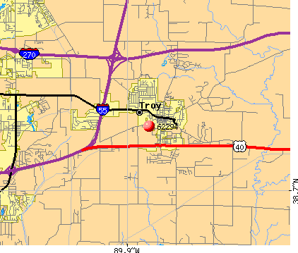 Troy, IL (62294) map